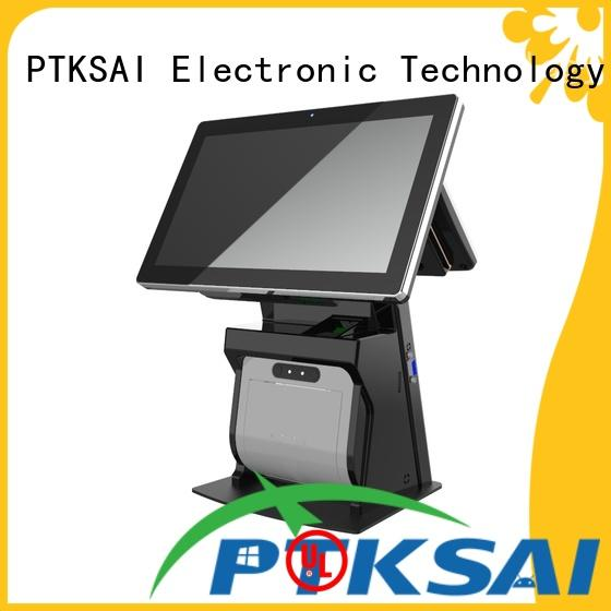 PTKSAI hospitality pos terminal with thermal printer for self service