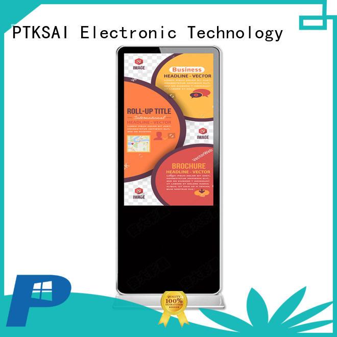 PTKSAI digital signage stand supplier for self service
