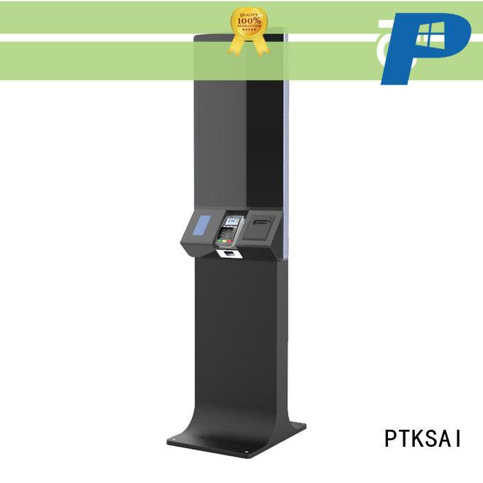 PTKSAI ticketing kiosk with fingerprint reader for sale