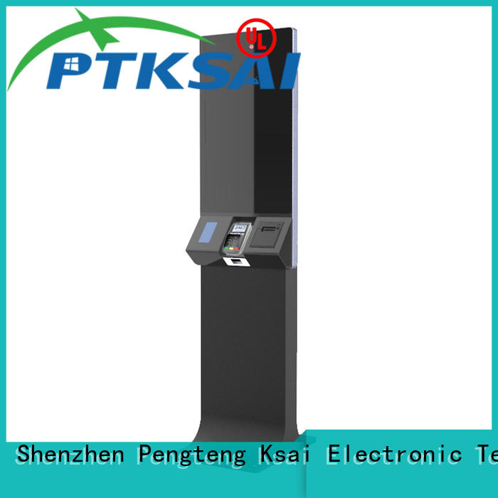PTKSAI inch bank self-service kiosk with receipt printer for sale