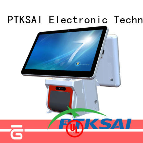 high quality touch screen cash register with barcode scanner for self service