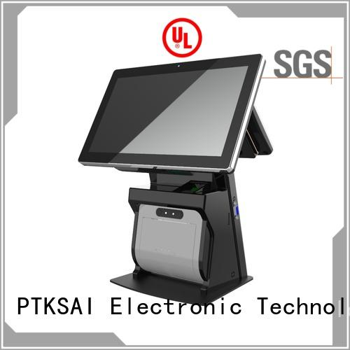 PTKSAI black all in one pos terminal with barcode scanner for payment