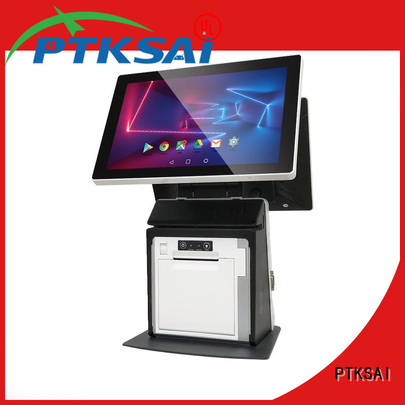 PTKSAI stable restaurant pos systems with auto cutter for payment
