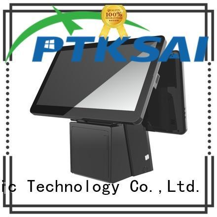 PTKSAI touch screen cash register with receipt printer for restaurants
