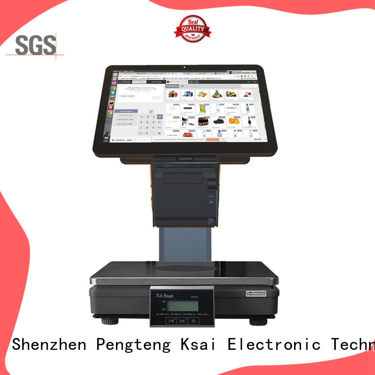 PTKSAI label thermal printer with customer facing display for payment