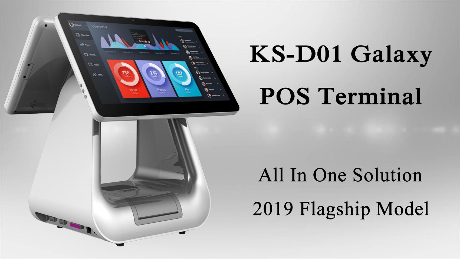 PTKSAI retail retail pos with auto cutter for self service-1