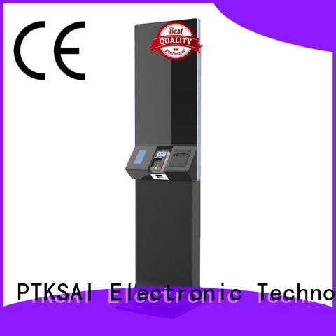 PTKSAI high quality self-service terminal with barcode scanner for payment