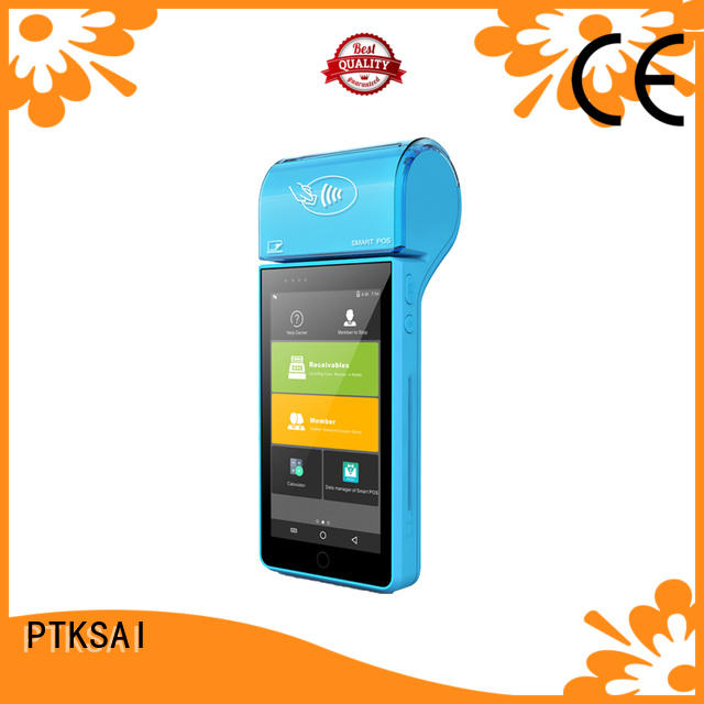 PTKSAI mobile pos android with printer for restaurants and bars