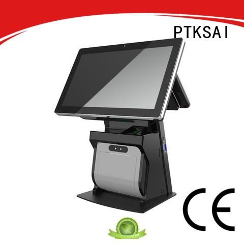 PTKSAI all-in-one pos with barcode scanner for payment