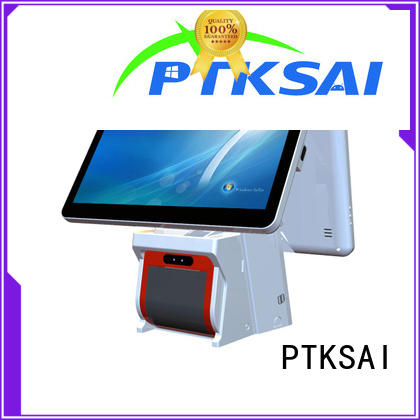 black point of sale cash register without auto cutter for self service