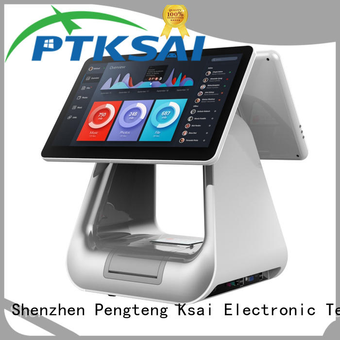 PTKSAI fashion touch screen cash register with thermal printer for restaurants
