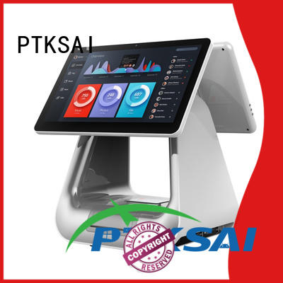 PTKSAI cost-effective pc pos with thermal printer for restaurants