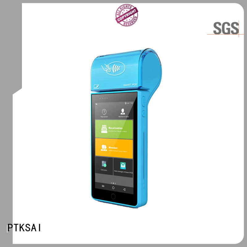 PTKSAI mobile pos system with smart card reader for bar