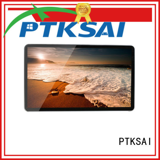 PTKSAI wall mounted in store digital signage with led panel for self service