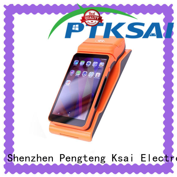 PTKSAI dual mobile point of sale devices with printer for restaurants and bars