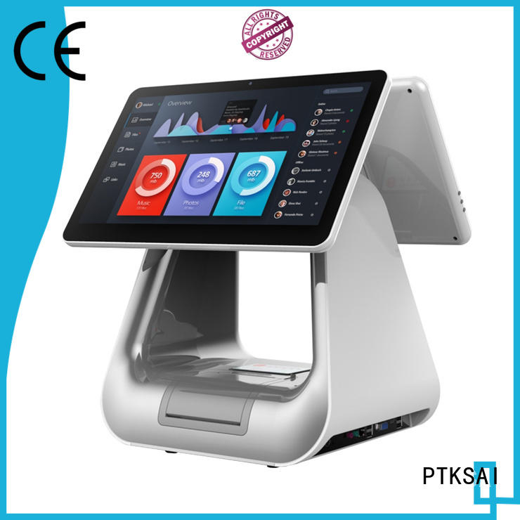 PTKSAI fashion all in one pos without auto cutter for self service