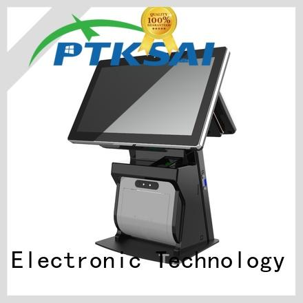 touch screen cash register with receipt printer for payment