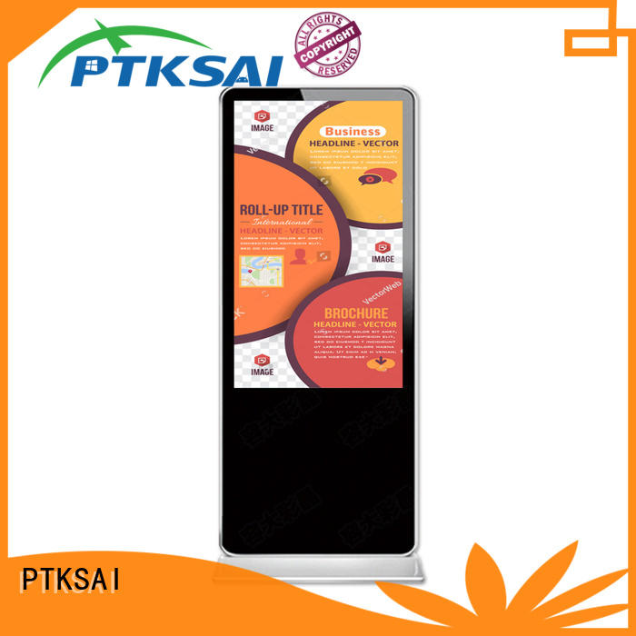 PTKSAI interactive touch digital signage with led panel for advertising