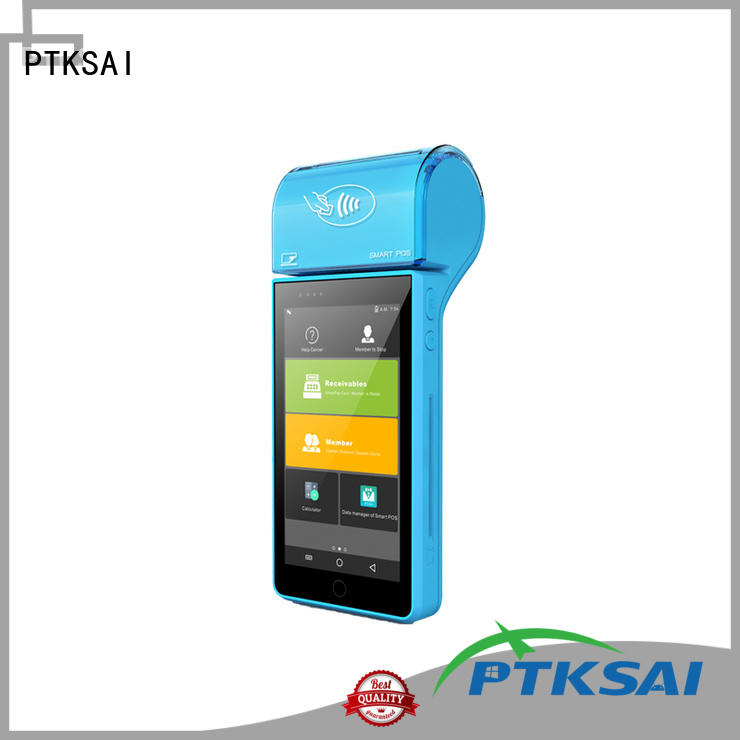 PTKSAI android wireless pos system with printer for small business