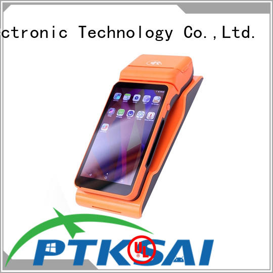 PTKSAI mobile pos machine with smart card reader for restaurants and bars
