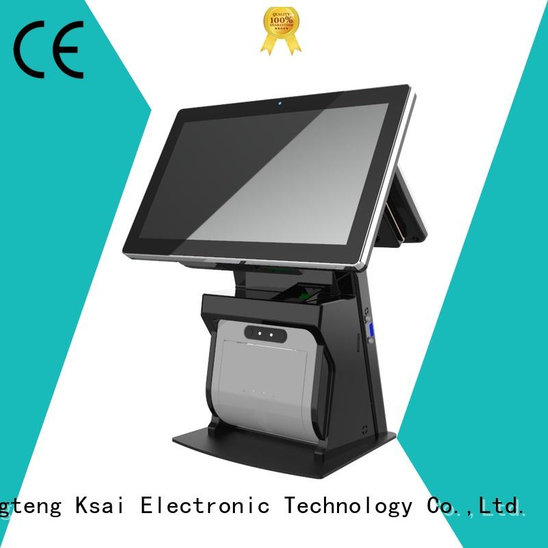 PTKSAI touch screen cash register with auto cutter for payment