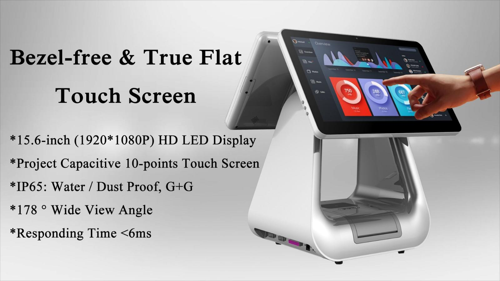 PTKSAI-2019 Flagship Windows POS All In One System for Retail-2