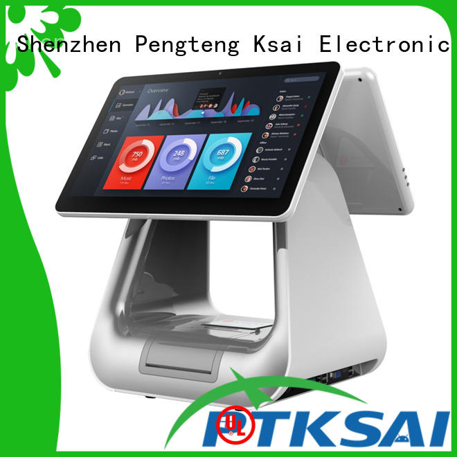 PTKSAI high end restaurant pos systems with thermal printer for payment