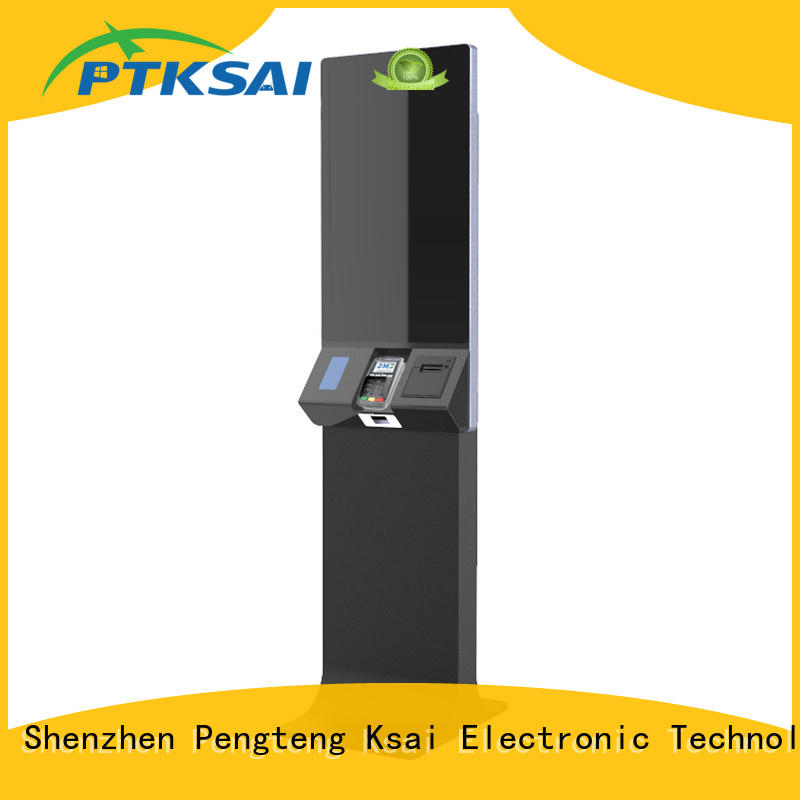 PTKSAI airport self-service kiosk with receipt printer for self service