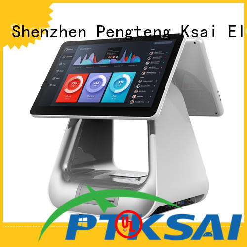 PTKSAI cash drawer with barcode scanner for self service