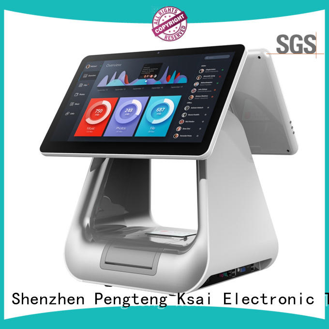 PTKSAI all in one pos terminal with receipt printer for self service