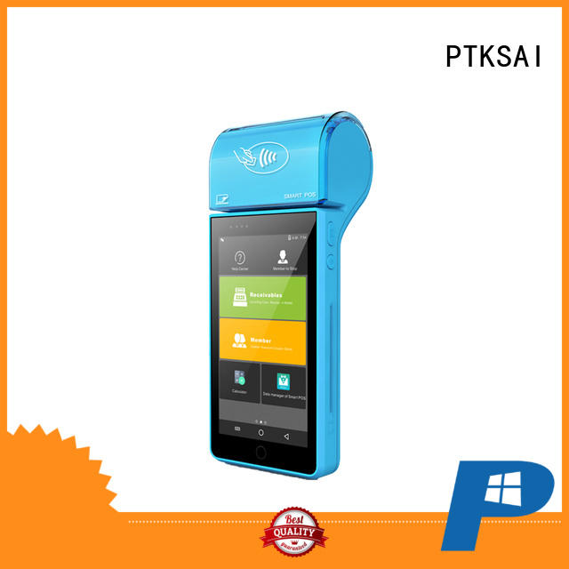PTKSAI android mobile pos system with customer display for payment