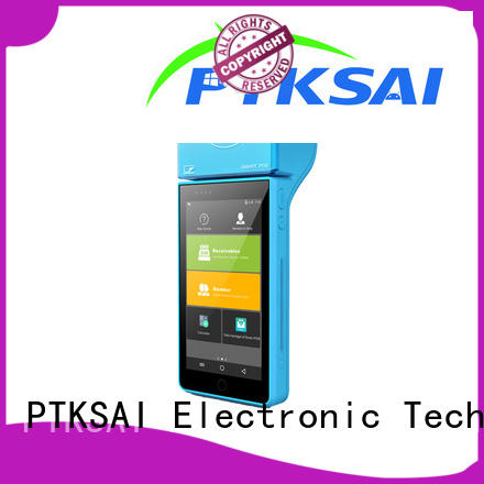 PTKSAI mobile point of sale devices with printer for restaurants and bars