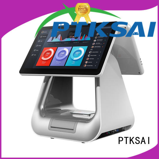 hospitality touch screen point of sale with barcode scanner for payment
