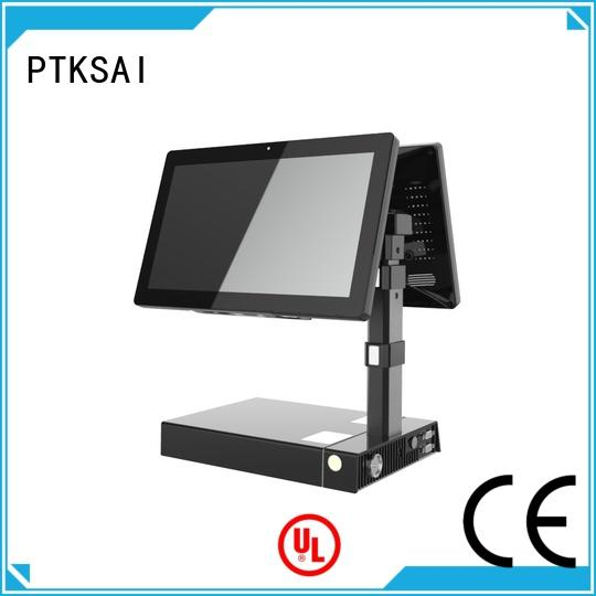 PTKSAI fanless pos devices with printer for payment