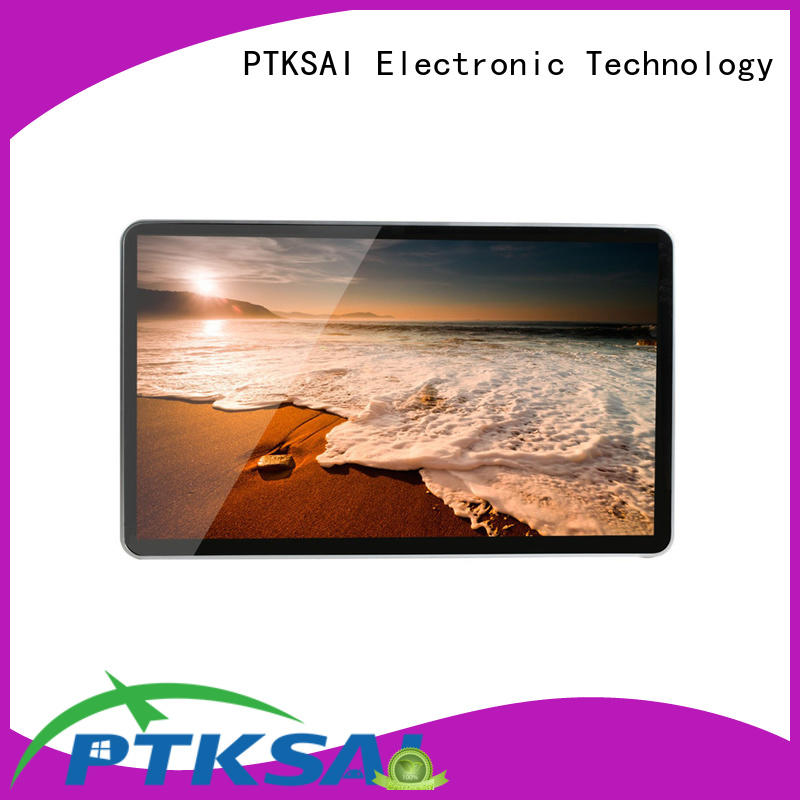 wall mounted digital signage screens with camera for business